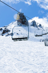 Winter time chairlifts
