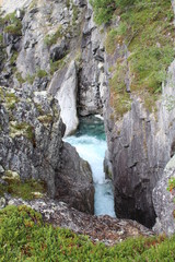 Small canyon in one of the National Park in Norway.