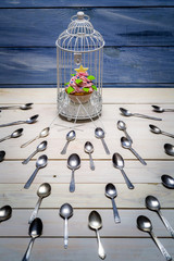 Muffin stolen by spoons