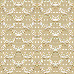 Seamless pattern of fabric lace ribbons.