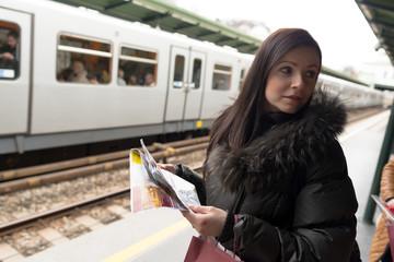 sexy touriste et métro