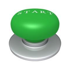 Start Button 3d illustration