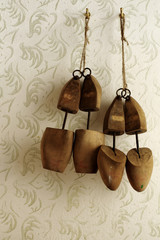 Wooden shoe stretcher mens and ladies still life