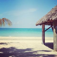 beautiful instagram of tropical beach and ocean