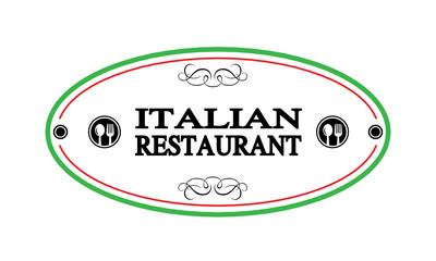 label Italian restaurant