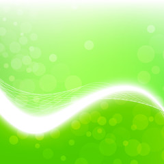 Stylish abstract green background. Vector