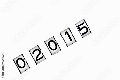 Leinwandbild Motiv meter reading 2015