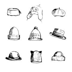 Hats collection.