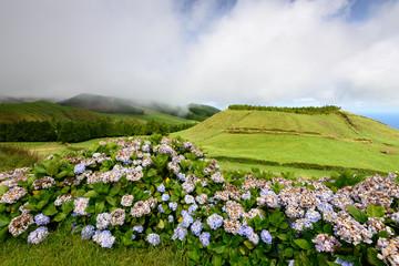 Cratera vulcanica nos Açores