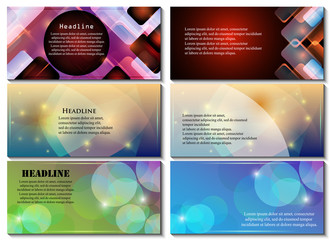 Abstract Flyer Template - Vector Illustration