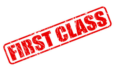 First class red stamp text