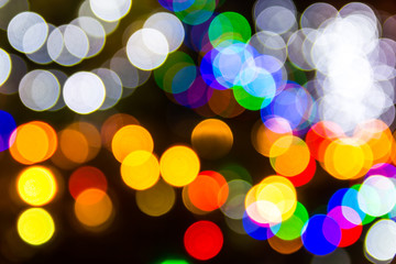 Bokeh blur of colorful lights can be found in the festival