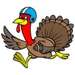 Turkey with Football - 75054050