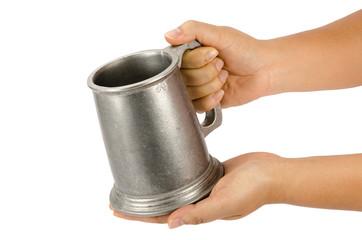 Aluminum beer mug