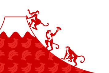 サルと富士山