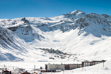 Tignes - a village and ski resort in the French Alps.