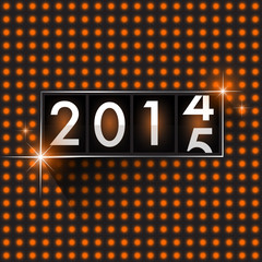 New Year 2015 analog countdown counter board