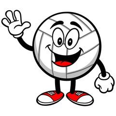 Volleyball Mascot Waving