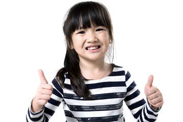 Closeup portrait of Asian little girl