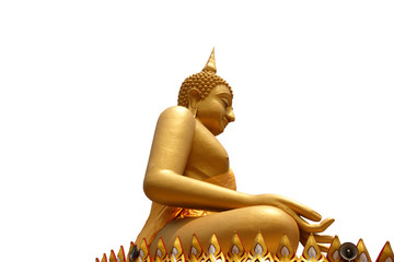 Seated buddha image on isolated