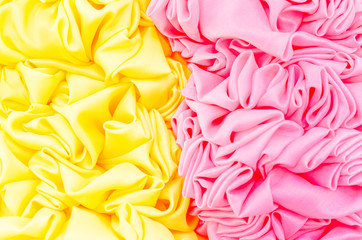 yellow and pink fabric texture background