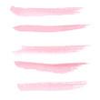 Hand drawn pastel  pink color watercolor brushstroke line - 75057449