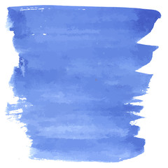 Blue hand drawn paint watercolor  background