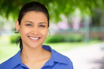 Happy closeup portrait headshot, confident