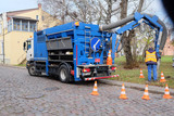 Klaipeda, Lithuania, 2014: truck for pumping septic tank