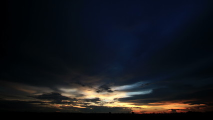 time lapse of sky and clouds ,sunset or sunrise (reverse)