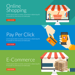 concept for online shopping, pay per click and e-commerce