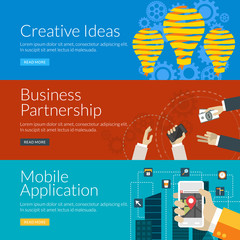 concept for creative ideas, business partnership