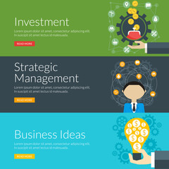 concept for investment, strategic management and business ideas