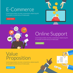 concept for e-commerce, online support and value proposition