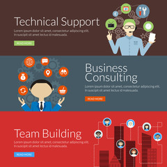 concept for technical support, business consulting