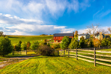 Beautiful farm in rural York County, Pennsylvania.