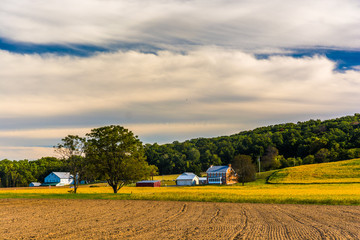 Beautiful farm scene in rural York County, Pennsylvania.
