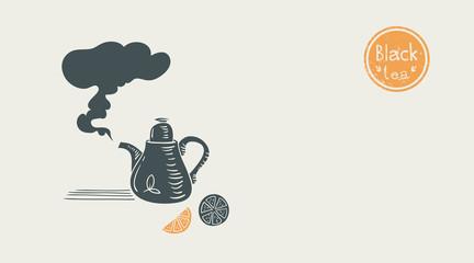 black tea poster