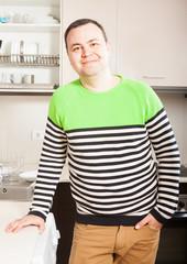 Confident  man   in  kitchen