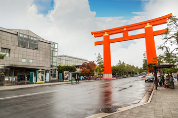 Torii Gate at Heian-jingu Shrine in Kyoto