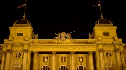 front of national croatian theater