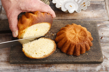 Steps of making traditional easter cake