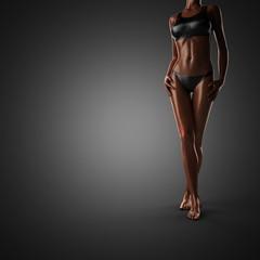 cute woman wiht bikini