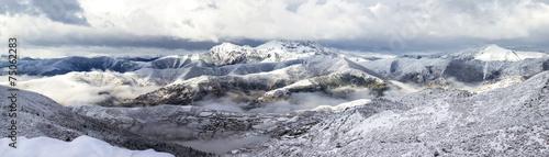 mountain ridge snow landscape