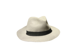 White vintage hat. Made in Italy