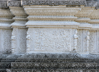 Buddhist carving of the life of Buddha, Thailand