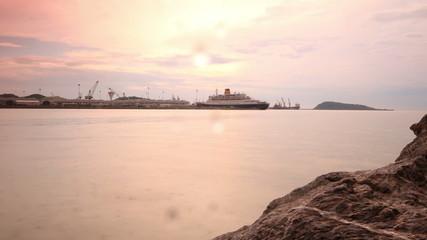 Ship yard ,time lapse
