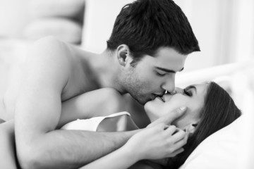 Young passionate couple