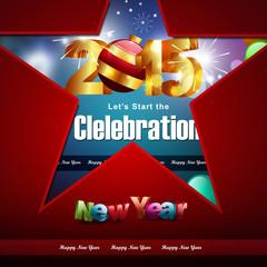 Happy New Year 2015 celebration concept