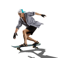 The isolated old man skater